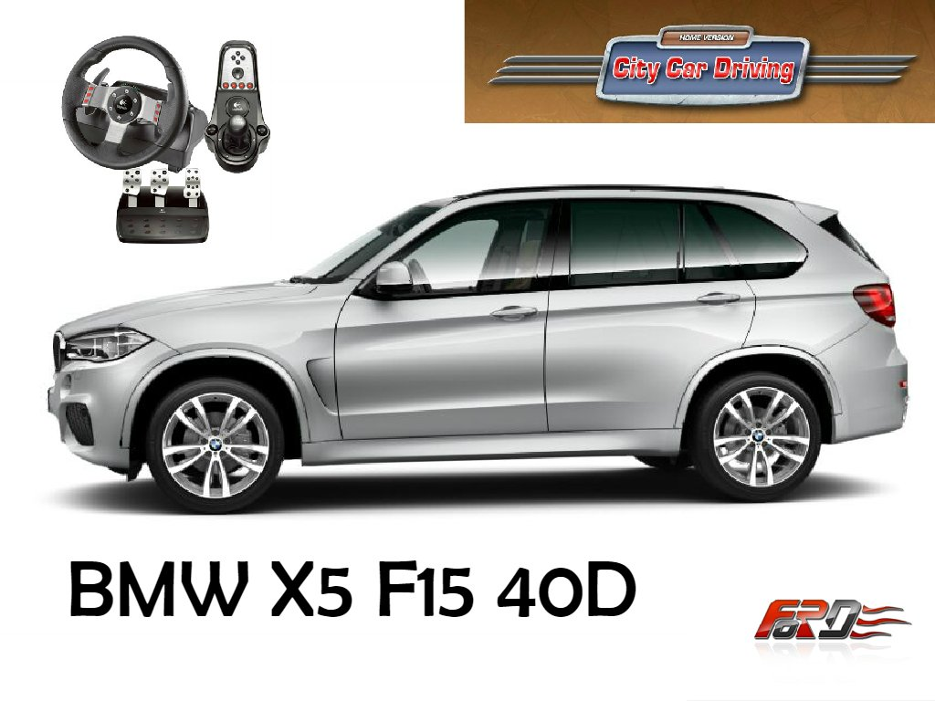 [ City Car Driving ] BMW X5 F15 40d тест-драйв, обзор автомобилей за рулем Logitech G27 . - Изображение 1