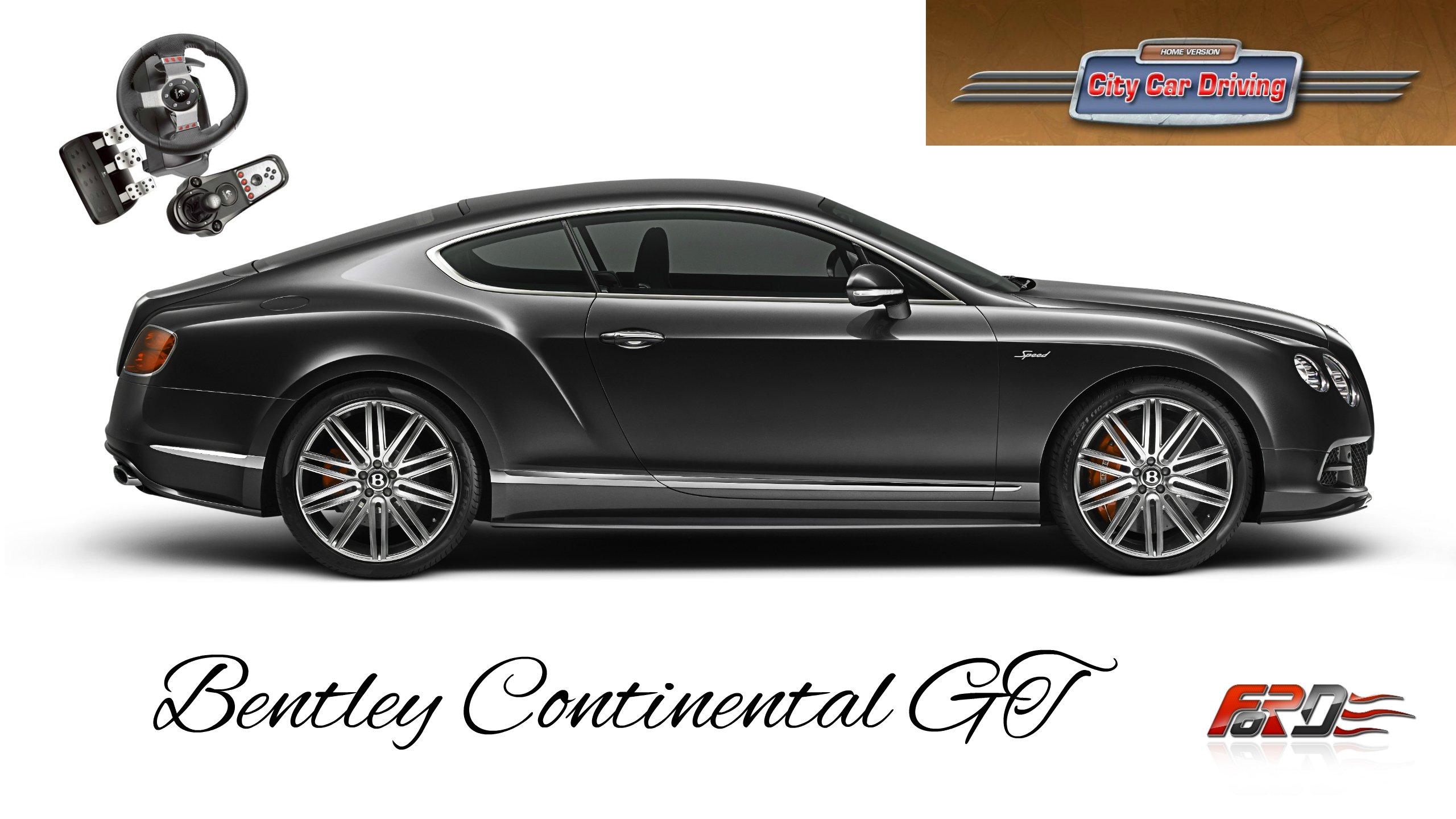 Bentley Continental GT - тест-драйв, обзор спортивного купе премиум сегмента в City Car Driving . - Изображение 1