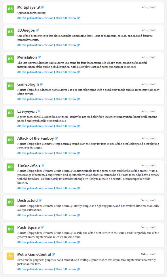 Оценки Unravel и Naruto Shippuden: Ultimate Ninja Storm 4, а также консольного экза PS4 Firewatch!. - Изображение 6