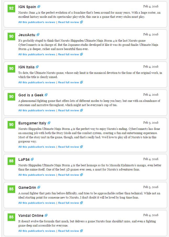 Оценки Unravel и Naruto Shippuden: Ultimate Ninja Storm 4, а также консольного экза PS4 Firewatch!. - Изображение 5