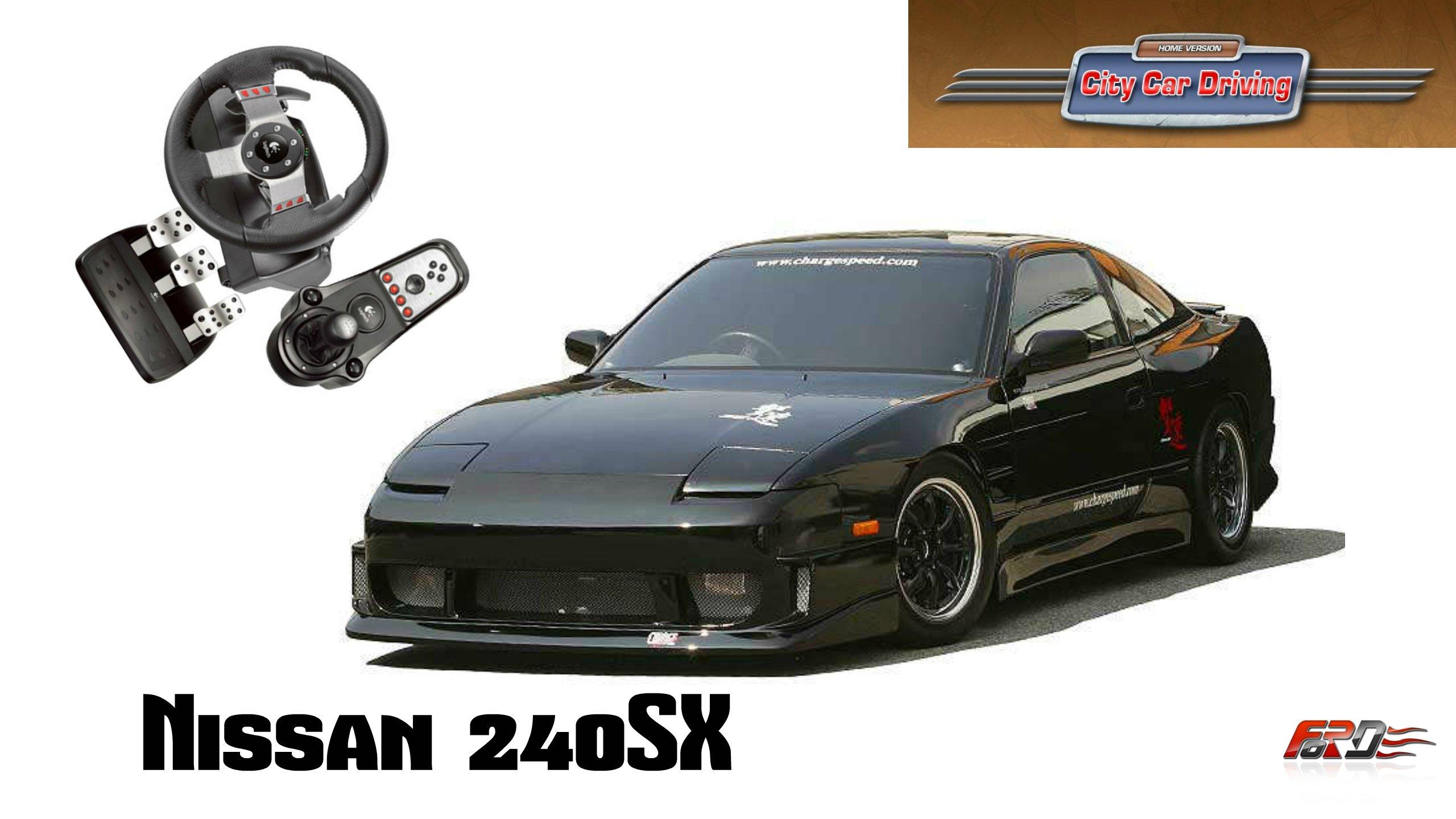 Nissan 240SX - тест-драйв, обзор японского автомобиля для дрифта, который не едет в City Car Driving. - Изображение 1