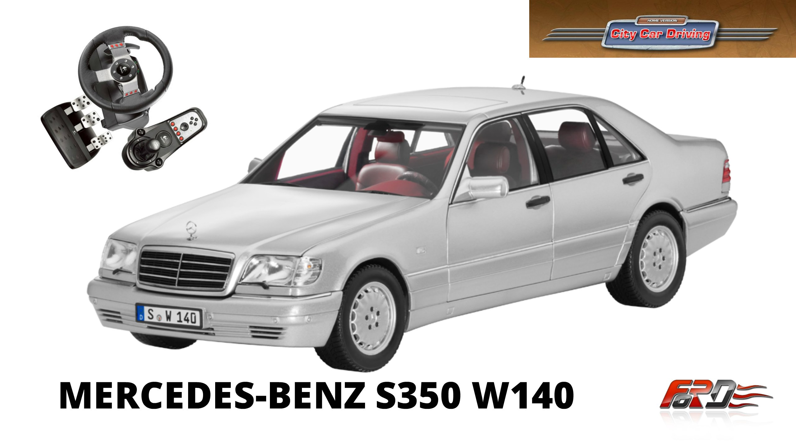 Mercedes-Benz S350 W140 тест-драйв, обзор легендарные автомобили девяностых City Car Driving. - Изображение 1