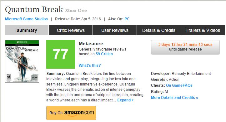 Первые оценки Quantum Break! Мыльный выстрел в ногу Xbox One!. - Изображение 1