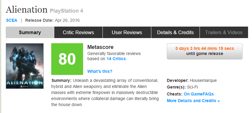 Первые оценки Alienation эксклюзива PS4, игра от разработчика Resogun!. - Изображение 1