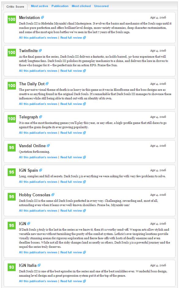 Первые оценки Dark Souls III ! . - Изображение 2