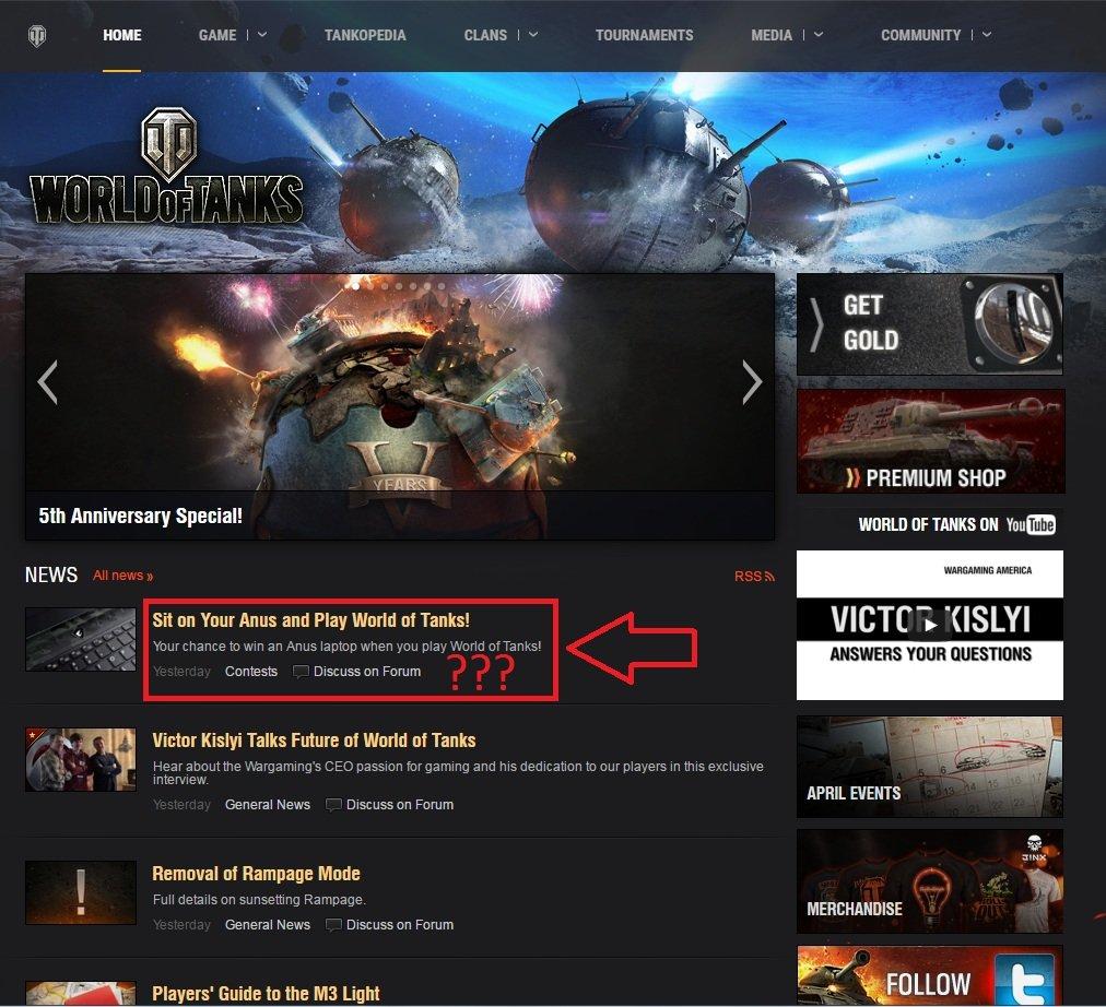 Wargaming предложила европейским игрокам World of Tanks «сидеть на анусе». - Изображение 2