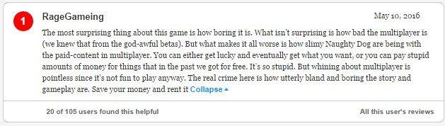 Гневный отзыв (Uncharted 4: A Thief's End). - Изображение 2