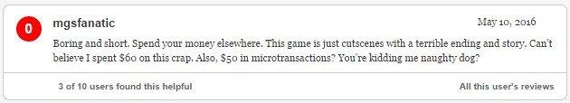 Гневный отзыв (Uncharted 4: A Thief's End). - Изображение 6