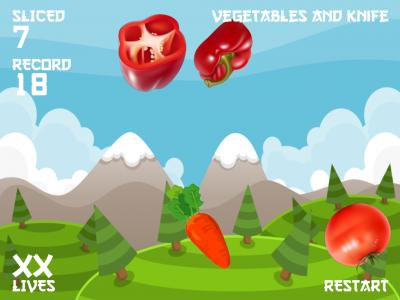 Vegetables and knife. - Изображение 5