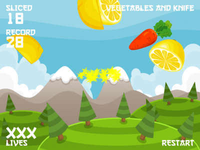 Vegetables and knife. - Изображение 4
