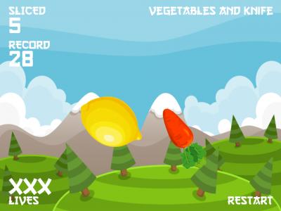 Vegetables and knife. - Изображение 3