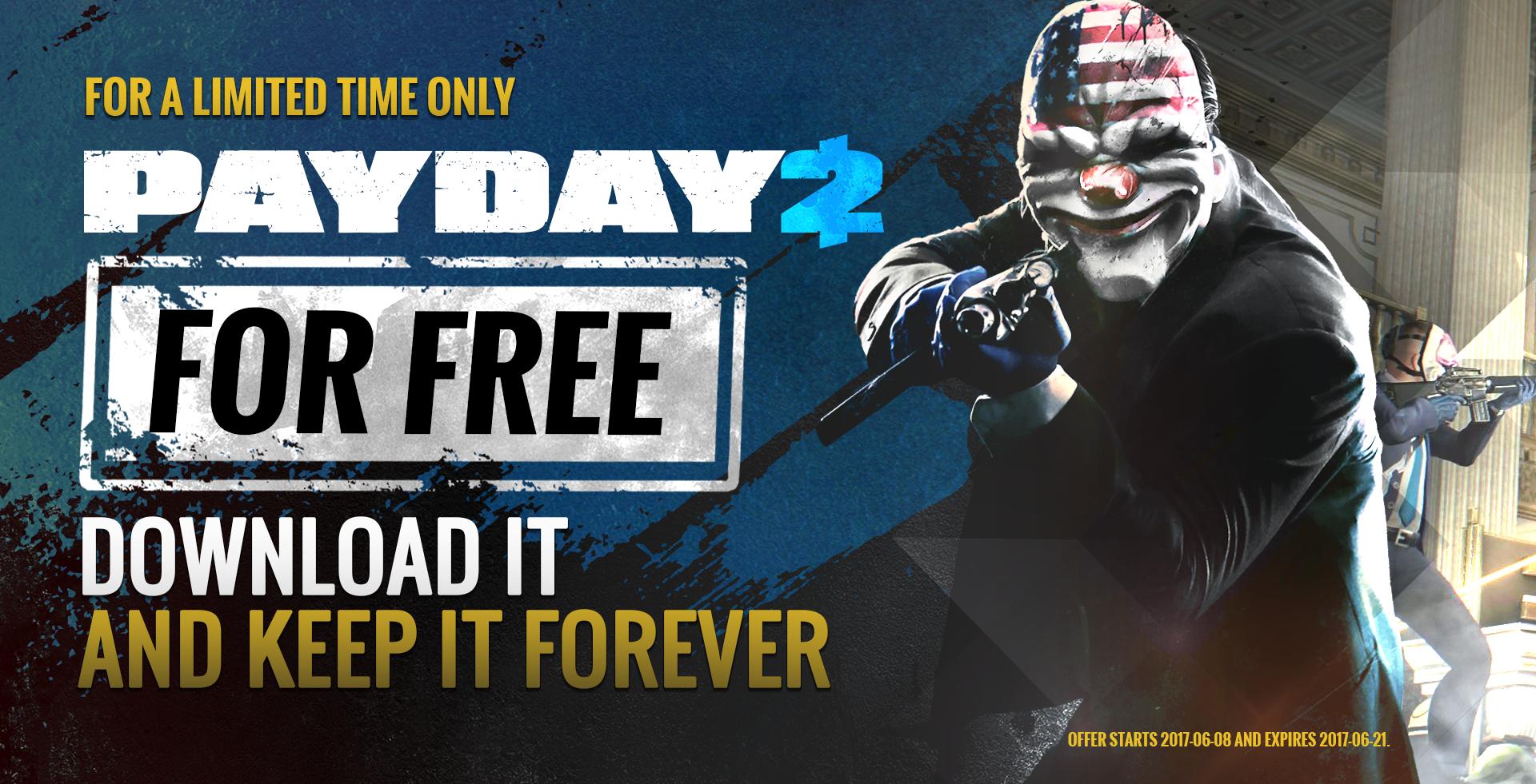 Payday 2 в steam можно получить бесплатно! Налетай!. - Изображение 1