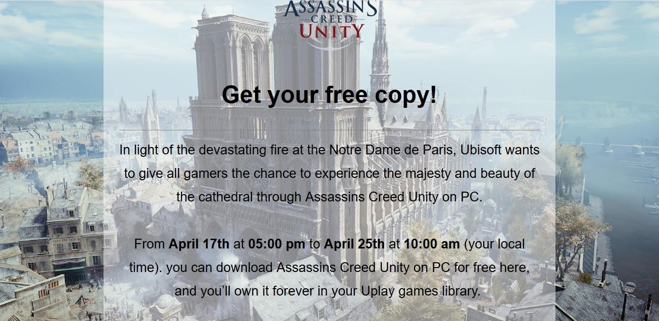 Assassins Creed Unity бесплатно в Uplay на ПК. - Изображение 1