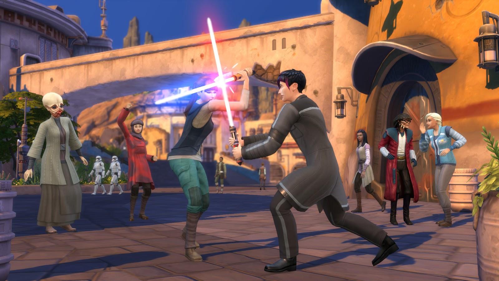 Стань героем вселенной Star Wars в новом дополнении «Путешествие на Батуу» для The Sims 4.
