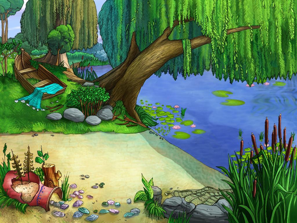 Картинка реки для детей анимация