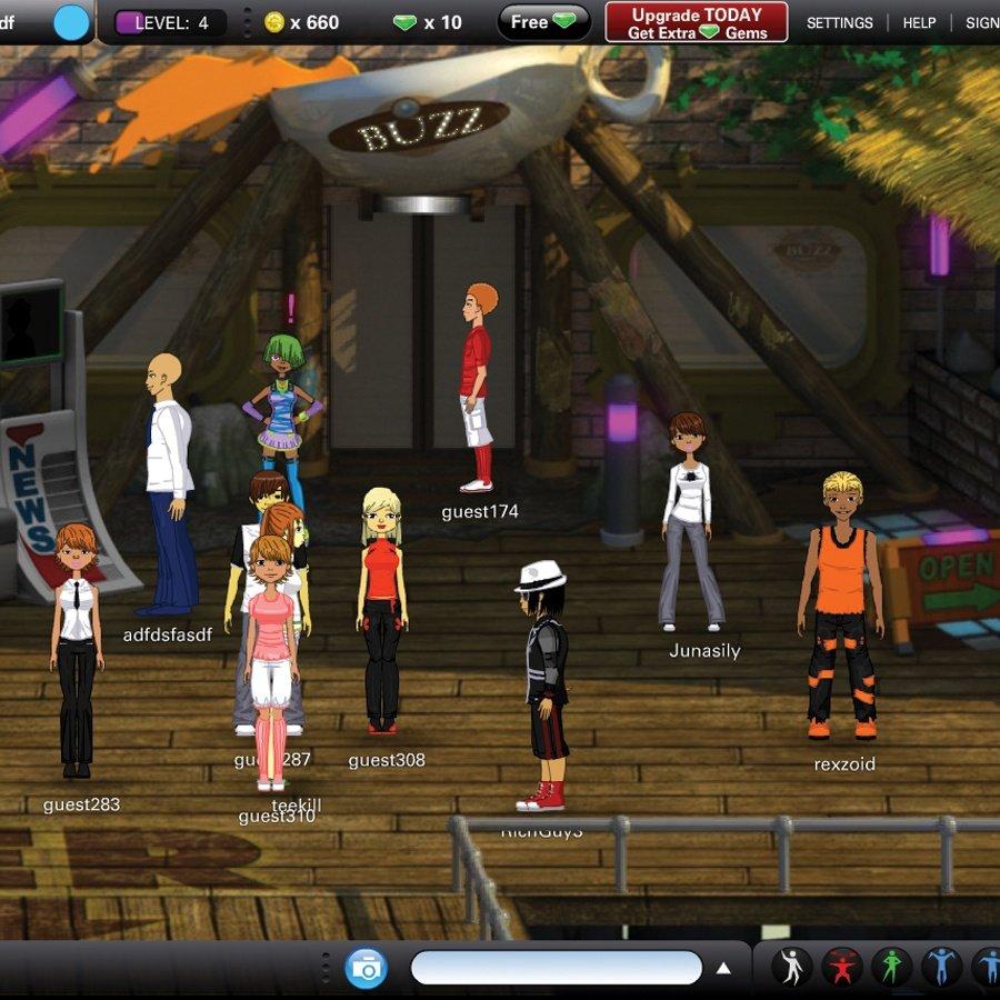 Virtual world dating games