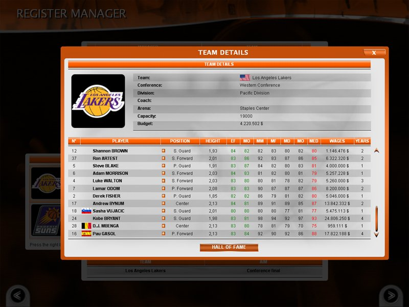 International Basketball Manager Season 2010 11 Skrinshoty