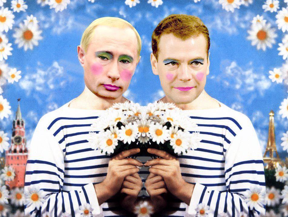 Гей-парад: Милашки Путин и Медведев в Берлине<3 Это что-то!. - Изображение 1