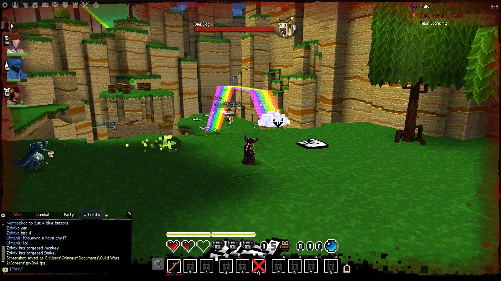 Первое апреля в Guild Wars 2. Там еще восьмибитная музыка играет на фоне <3. - Изображение 2