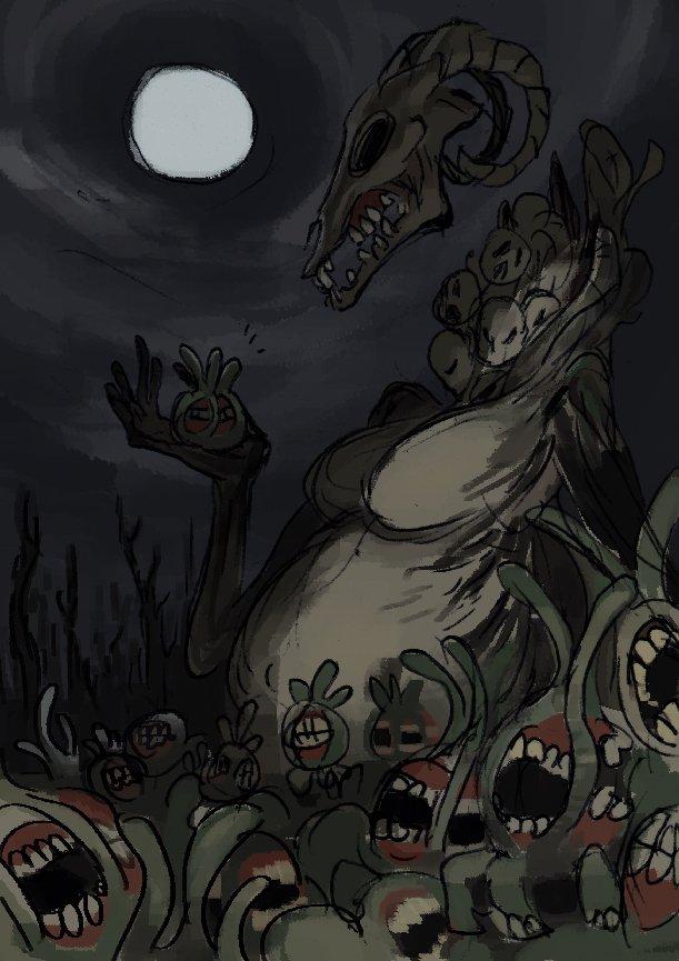 Рисунки по мифам ктулху от художника skullgirls.. - Изображение 1