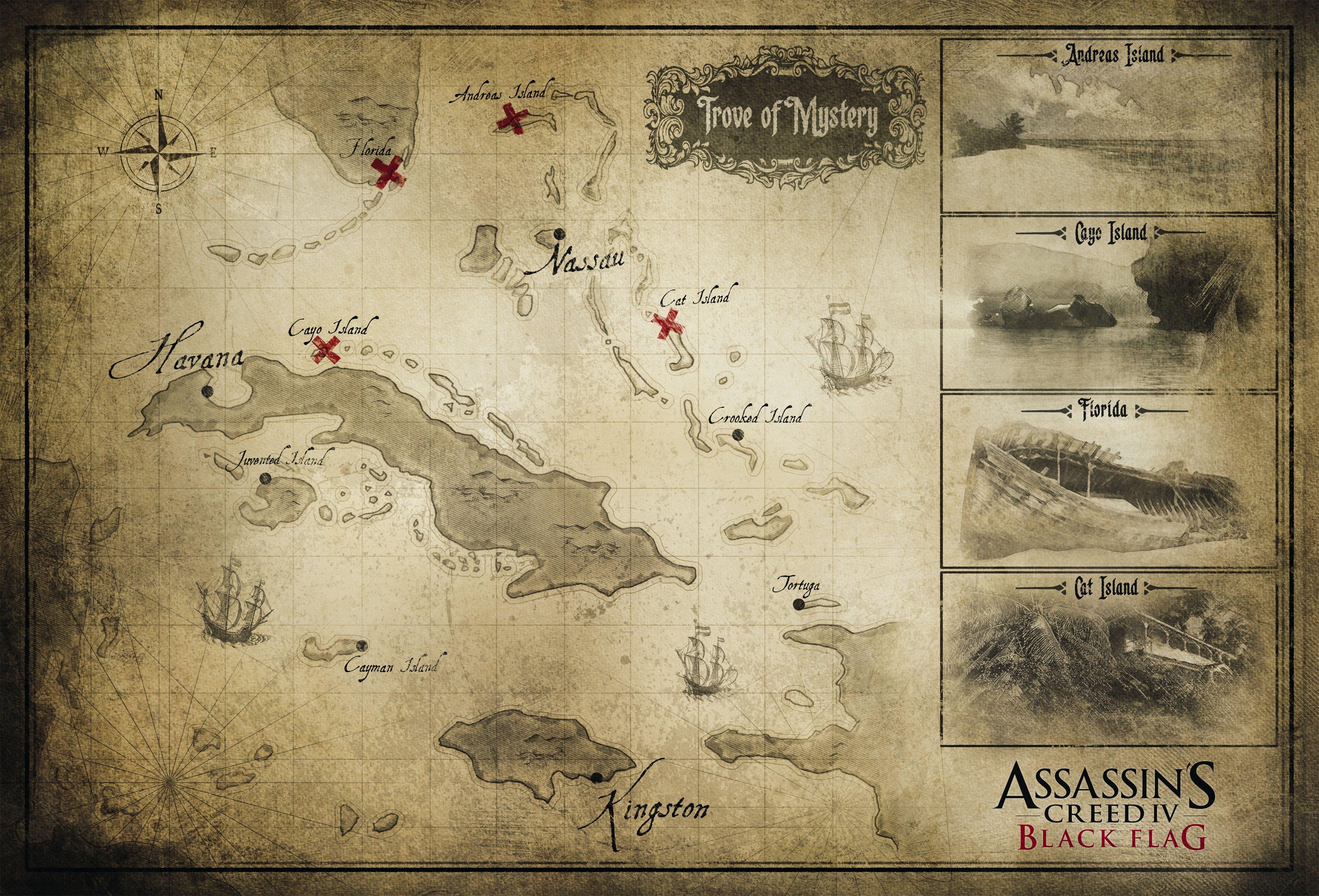 Карта #assassinscreed4 . - Изображение 1
