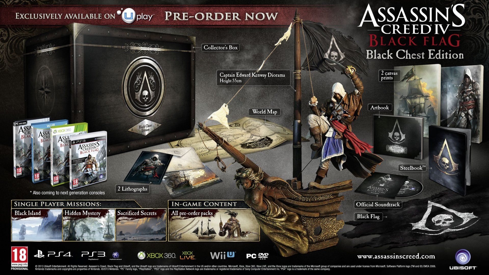 youtube.com/watch?feature=player_embedded&v=2dtf-ezfytMAssassin's Creed 4: Black Flag - коллекционные издания и  .... - Изображение 1