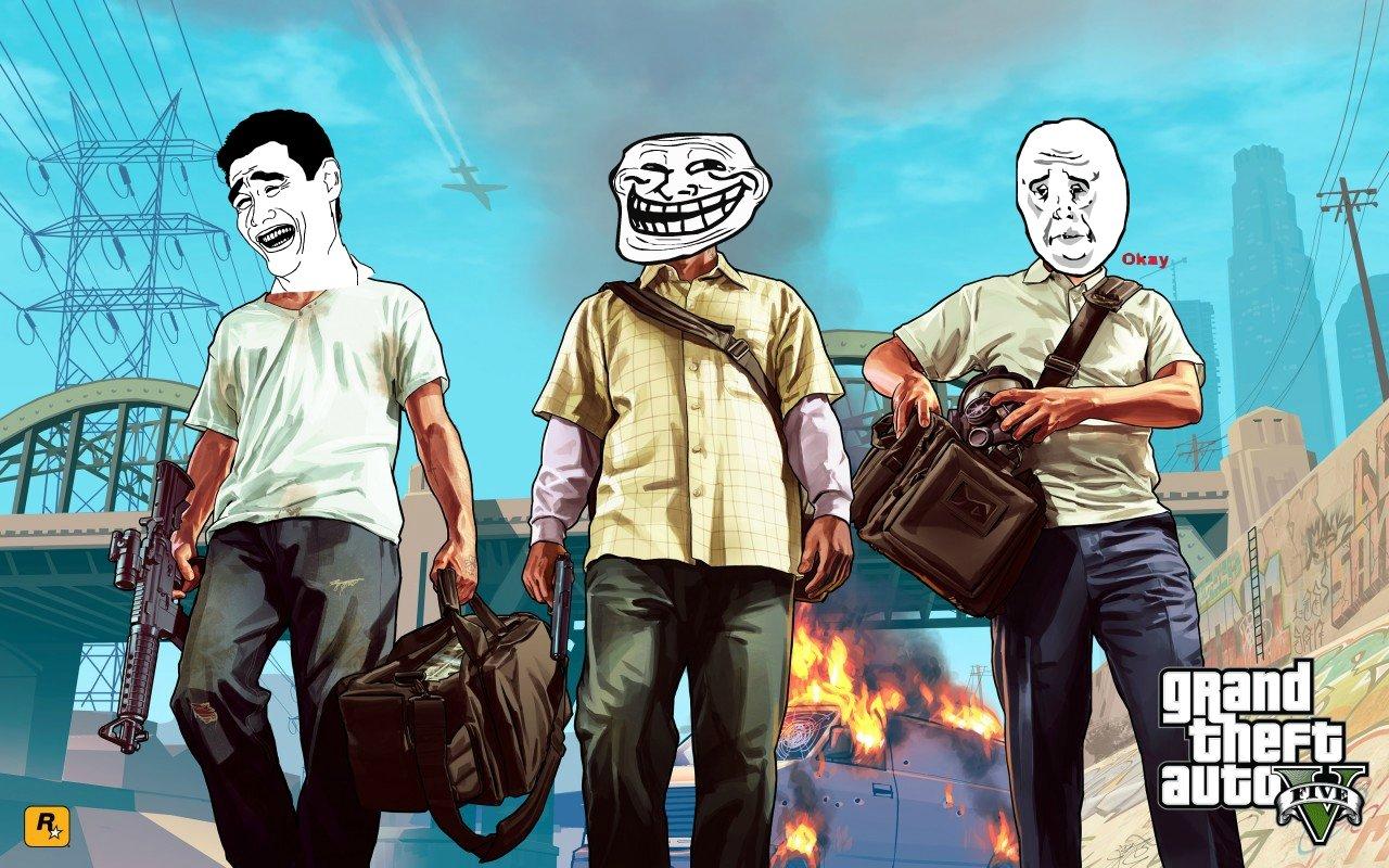 GTA 5- в мемах. - Изображение 1