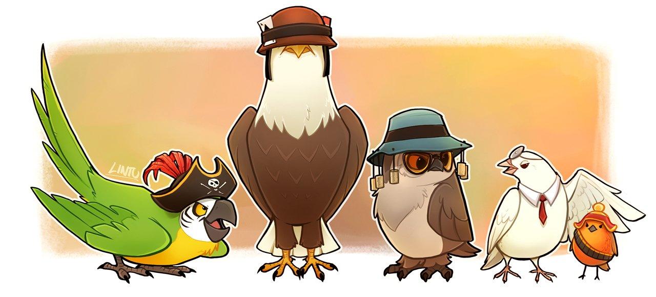 Персонажи TF2 в виде птиц. Комьюнити стима радует.. - Изображение 1