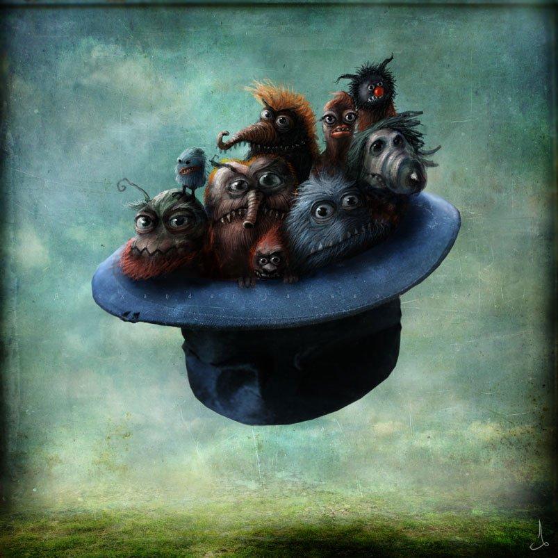 """""""Шляпная история""""сказка  Жили были две шапки. Обычные такие шапки. Одна с полями, а другая - котелок. И были у них х .... - Изображение 2"""