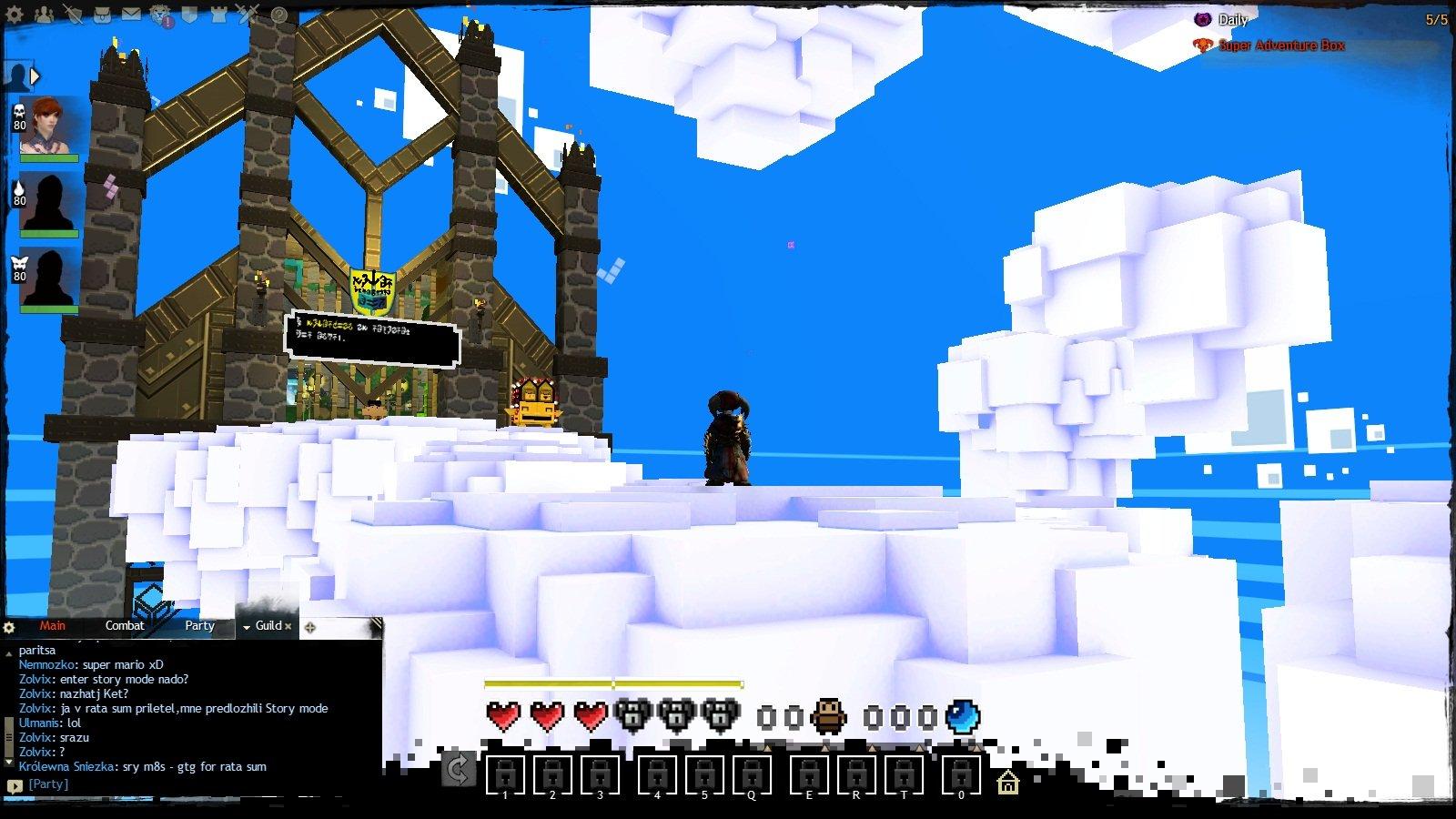 Первое апреля в Guild Wars 2. Там еще восьмибитная музыка играет на фоне <3. - Изображение 3