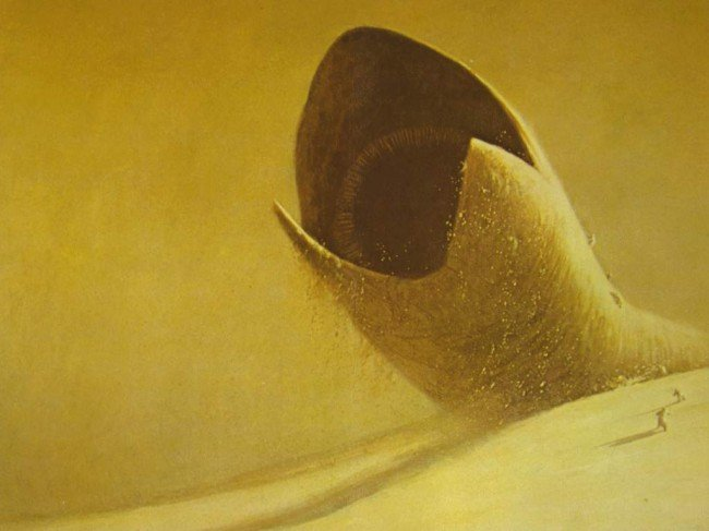 Только что допер: Харвестер собирает спайс. Спайс, как известно продукт жизнедеятельности песчаных червей. Песчаные  .... - Изображение 1